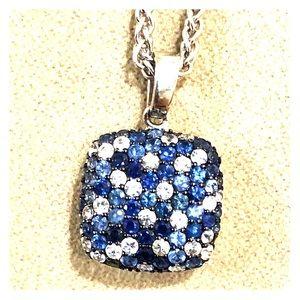 Effy 925 Sterling Silver Blue Sapphire Pendant